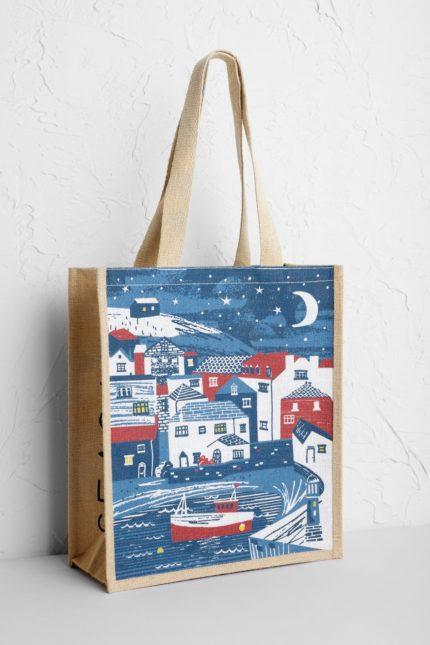 Seasalt jutová nákupní taška wintertime in st ives