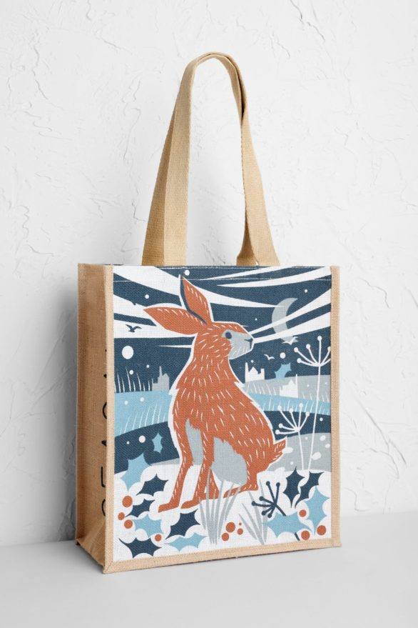 Seasalt jutová nákupní taška happy christmas