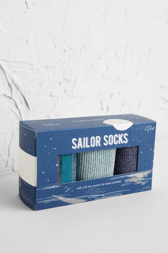 Seasalt trojbalení dámských bambusových ponožek sparkle