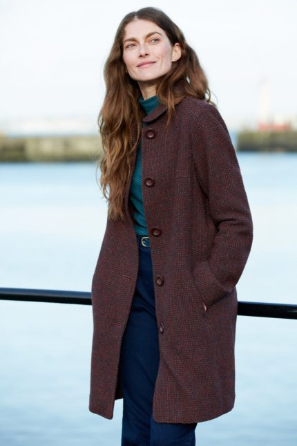 Seasalt Cornwall  vlněný kabát wood cabin rye