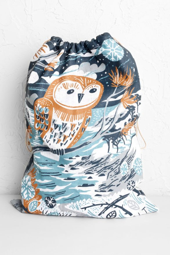 Seasalt Cornwall  jutový pytlík winter owl