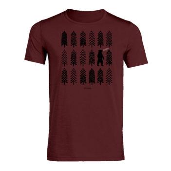 Seasalt Cornwall  tričko z bio bavlny nature bear forest bordó