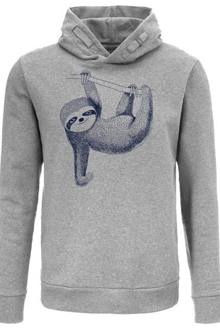 mikina animal sloth šedá