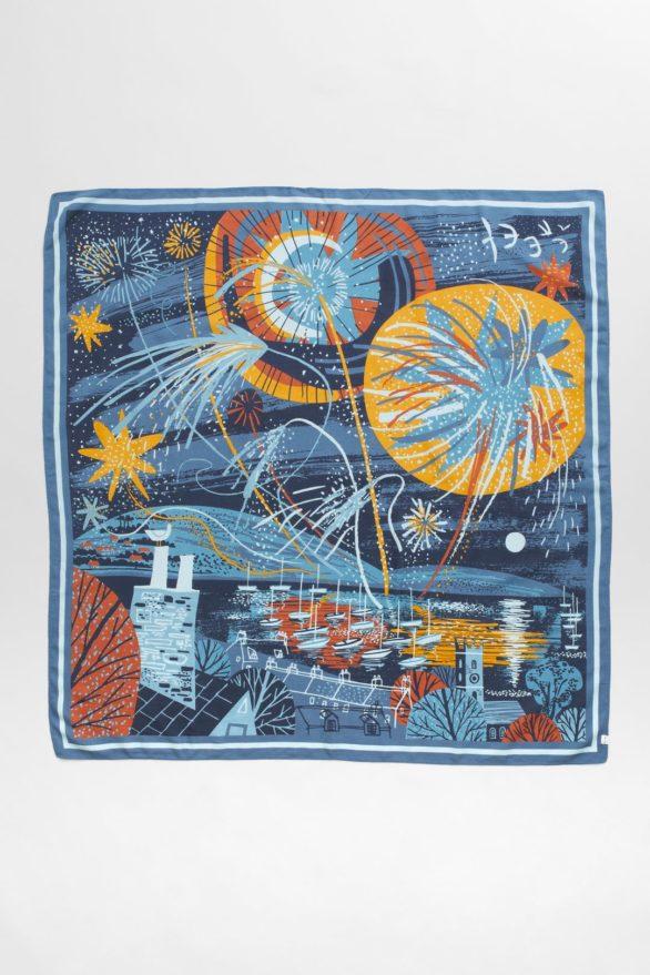 Seasalt Cornwall  modalový šátek scenic fireworks