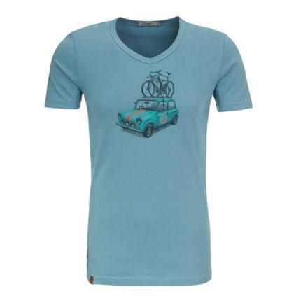 Greenbomb tričko bike rallye modré
