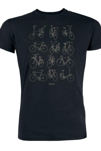 Greenbomb tričko retro bikes modré
