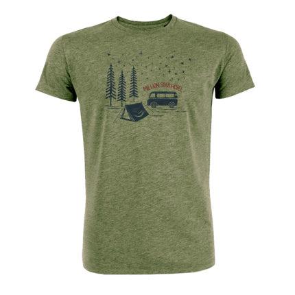 Greenbomb tričko million star hotel khaki