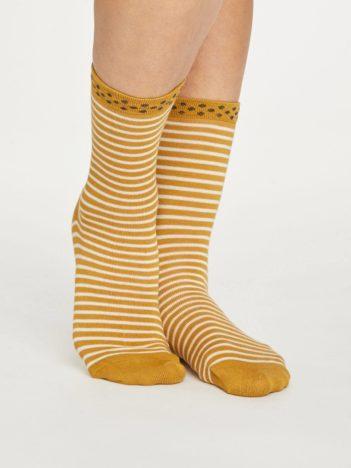 Thought dámské bambusové ponožky hedda stripe zelené