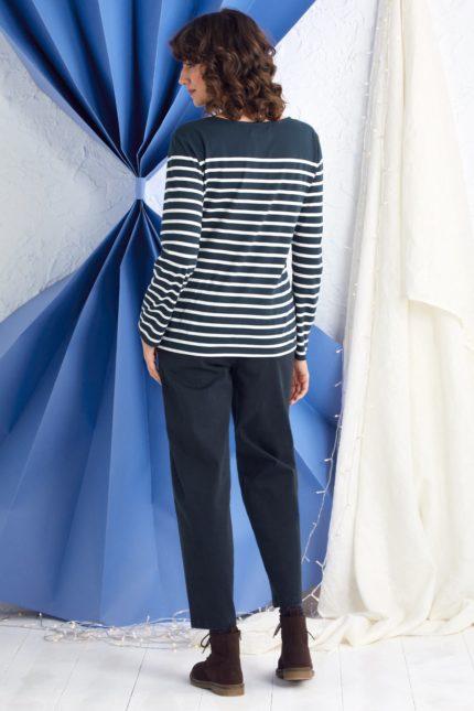 Seasalt Cornwall top sailor z bio bavlny midnight chalk