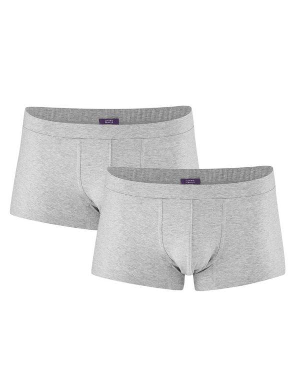 Living Crafts dvojbalení pánských boxerek z bio bavlny farell šedé