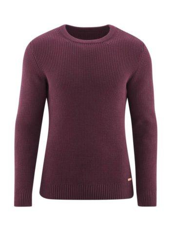 Living Crafts svetr z bio bavlny harald vínový
