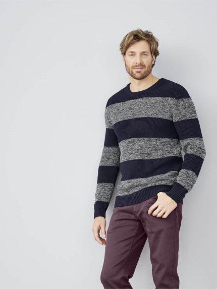 Living Crafts svetr z bio bavlny harald modrý