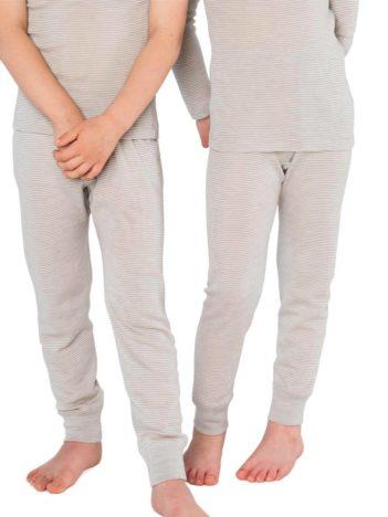 Living Crafts spodní kalhoty s hedvábím šedý proužek