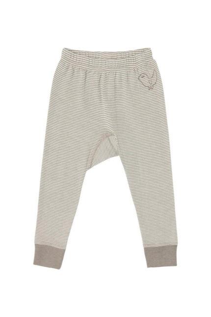 Living Crafts merino spodní kalhoty s hedvábím proužek natural