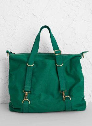 Seasalt Cornwall bavlněná taška idyllic weekend zelená