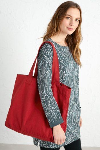 Seasalt Cornwall plátěná taška mid-tone červená