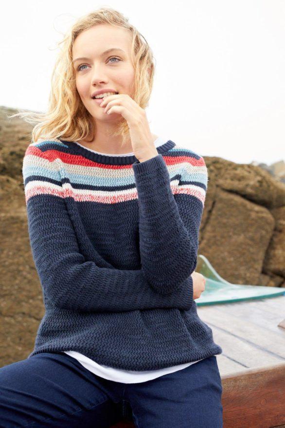 Seasalt Cornwall svetr se lnem puffin island