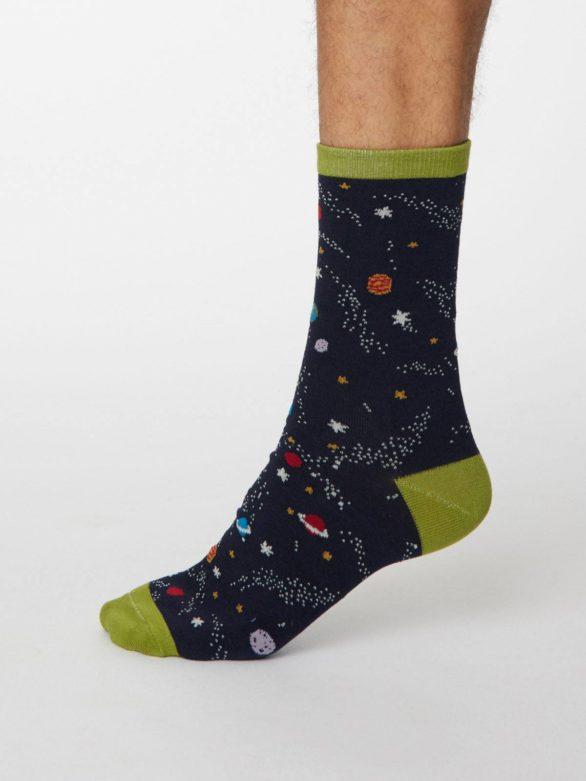 Thought pánské bambusové ponožky galassia tm. modré