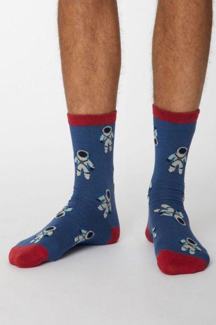 Thought pánské bambusové ponožky galassia sv. modré