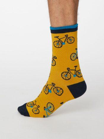 Thought pánské bambusové ponožky cyclista žluté