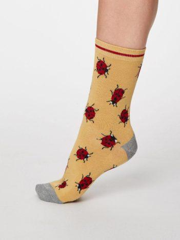 Thought dámské bambusové ponožky insetto žluté