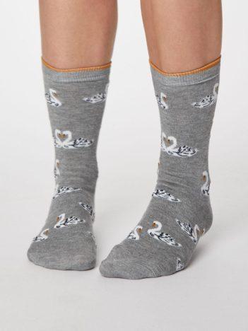 Thought dámské bambusové ponožky cigno tm. modré