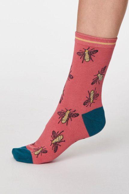 Thought dámské bambusové ponožky insetto růžové