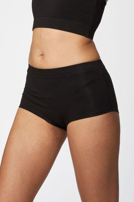 Thought bambusové kalhotky s nohavičkou hannah černé