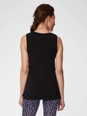 Thought bambusové tričko bez rukávů černé