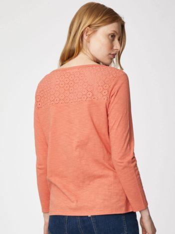 Thought top z bio bavlny lorraine růžový