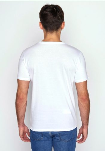 Greenbomb tričko z bio bavlny penguin surfer bílé