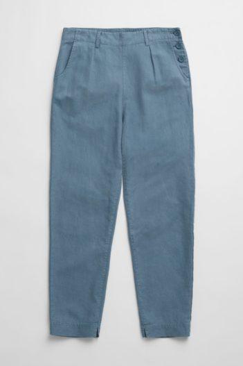 Seasalt Cornwall kalhoty se lnem nanterrow modré