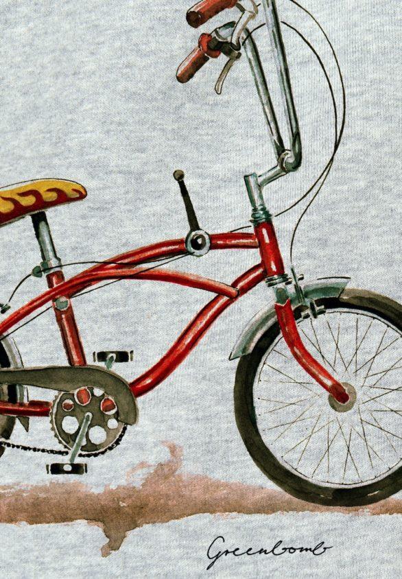 Greenbomb mikina bike banana šedá