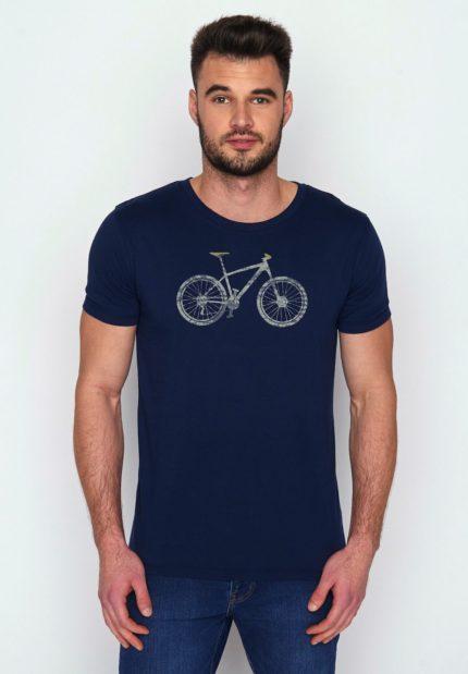 Greenbomb tričko z bio bavlny bike cross modré