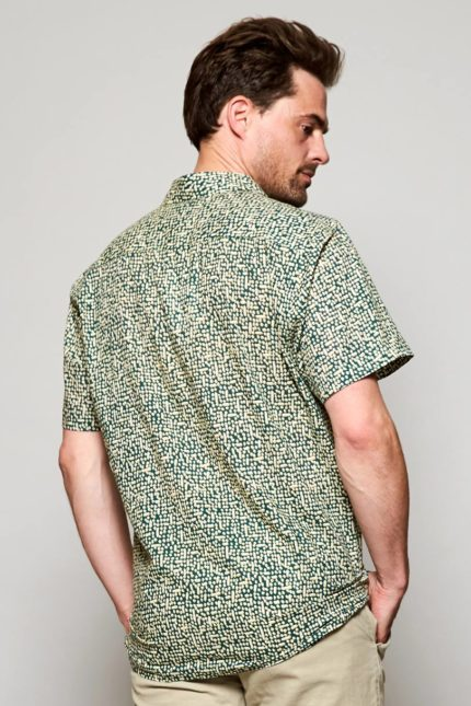 Nomads pánská košile s krátkým rukávem cobble pine