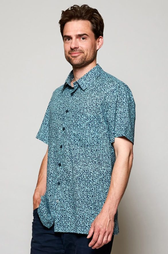 Nomads pánská košile s krátkým rukávem cobble storm
