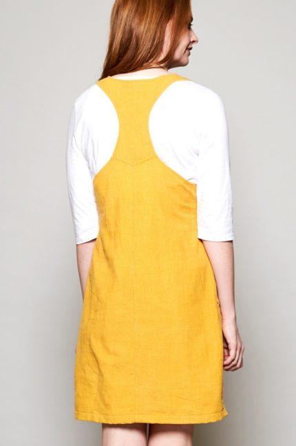 Nomads manšestrové tunikové šaty dungarees dandelion