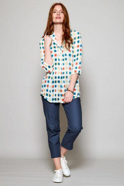 Nomads tuniková košile color block modrá