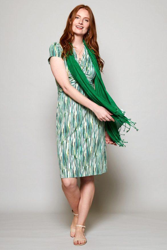 Nomads Šaty chroma z bio bavlny zelené