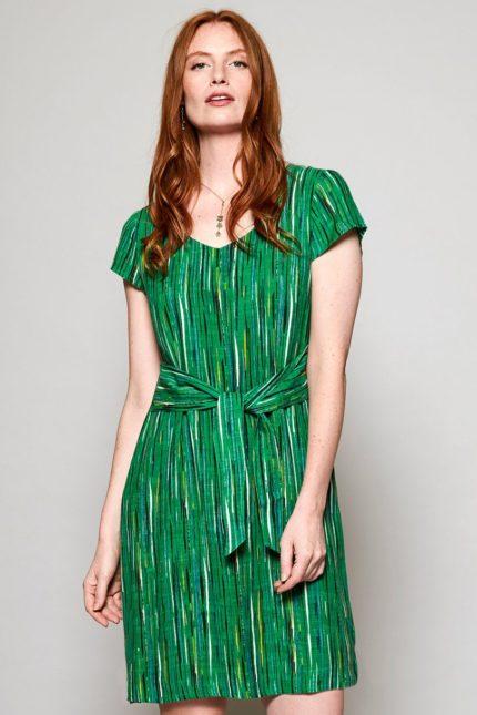 Nomads Šaty s mašlí stirpe zelené