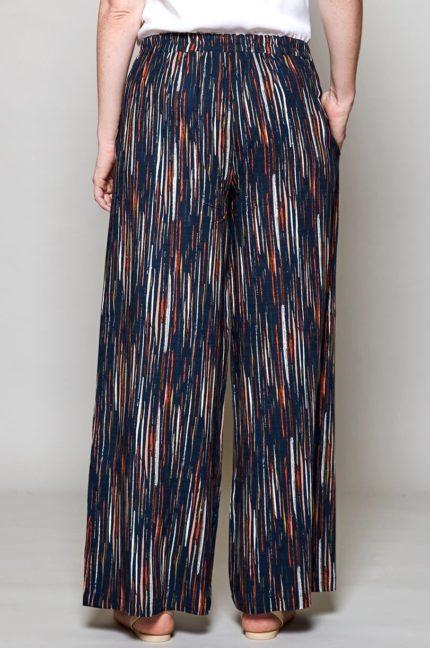 Nomads Široké kalhoty stripe modré
