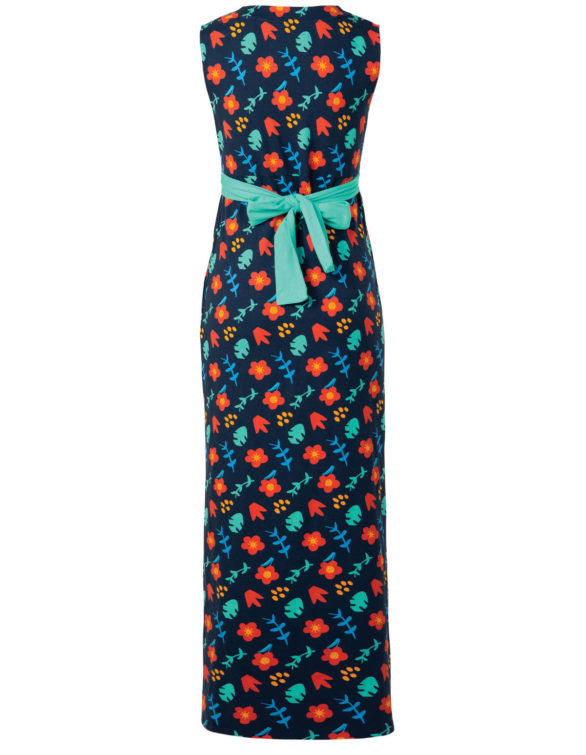 Frugi těhotenské maxi šaty floral