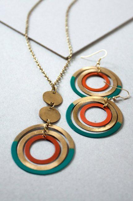 Nomads náhrdelník patina circle