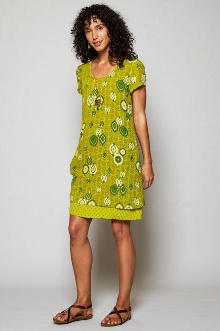 Nomads tunikové šaty zanzibar žluté