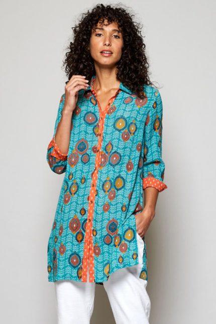 Nomads tuniková košile zanzibar modrá