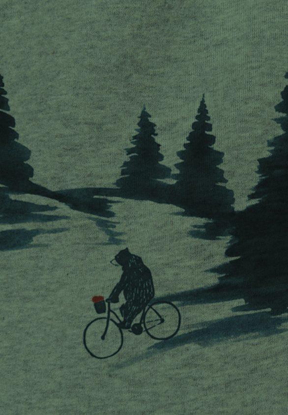 Greenbomb mikina nature bear romantic khaki