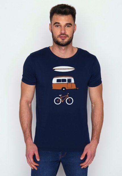 Greenbomb tričko z bio bavlny nature fun modré