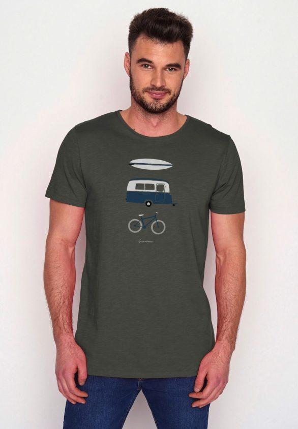 Greenbomb tričko z bio bavlny nature fun zelené