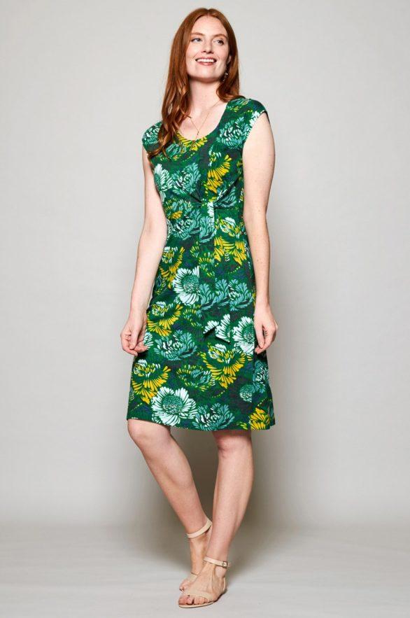 Nomads Šaty petal z bio bavlny zelené