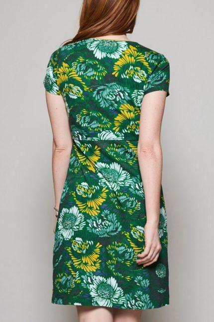 Nomads tunikové šaty petal zelené
